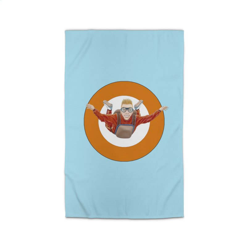 Skydiver (Orange) Home Rug by RealZeal's Artist Shop