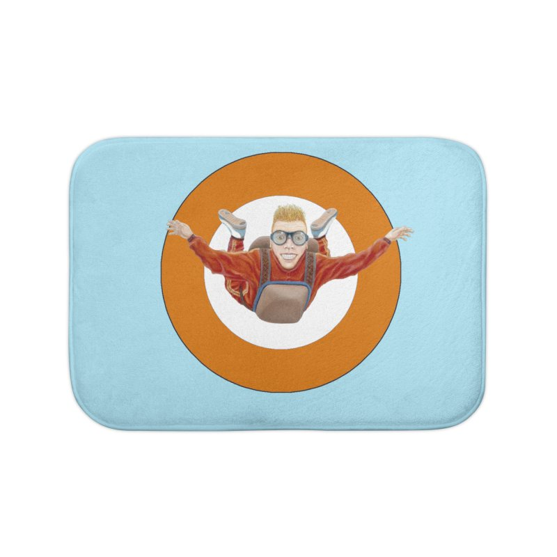 Skydiver (Orange) Home Bath Mat by RealZeal's Artist Shop