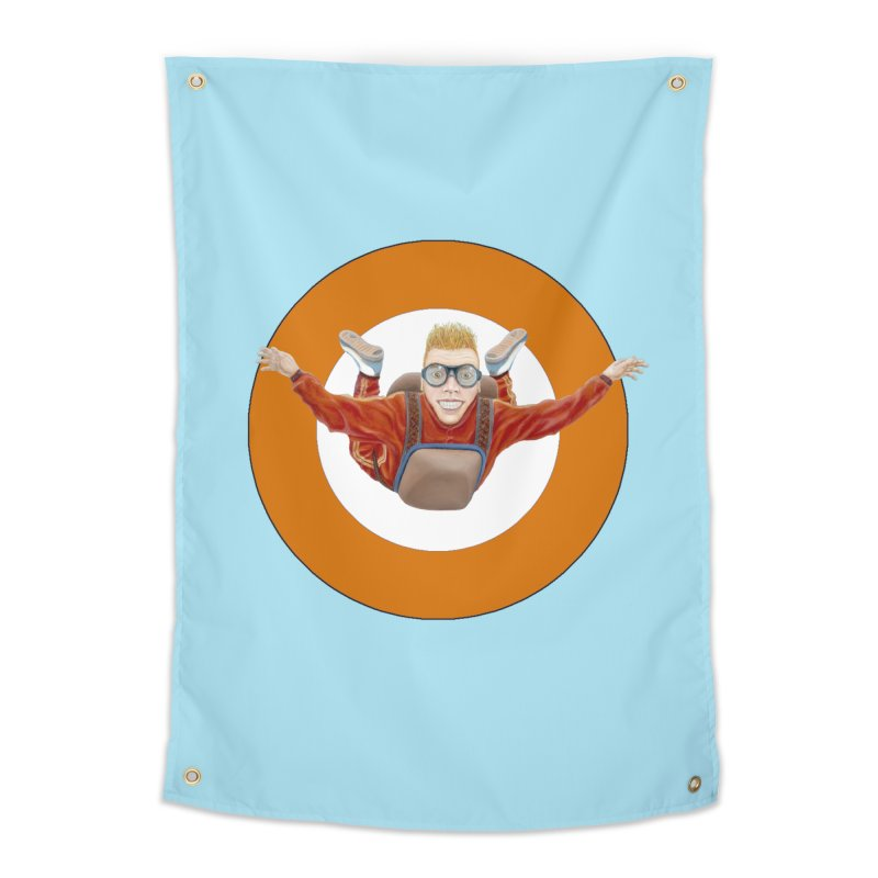 Skydiver (Orange) Home Tapestry by RealZeal's Artist Shop