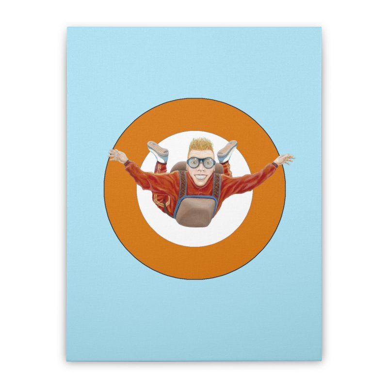 Skydiver (Orange) Home Stretched Canvas by realzeal's Artist Shop