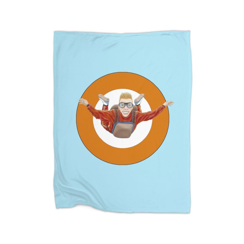 Skydiver (Orange) Home Fleece Blanket Blanket by RealZeal's Artist Shop