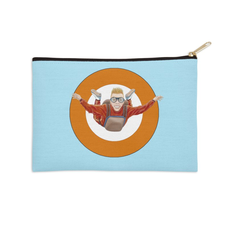 Skydiver (Orange) Accessories Zip Pouch by RealZeal's Artist Shop