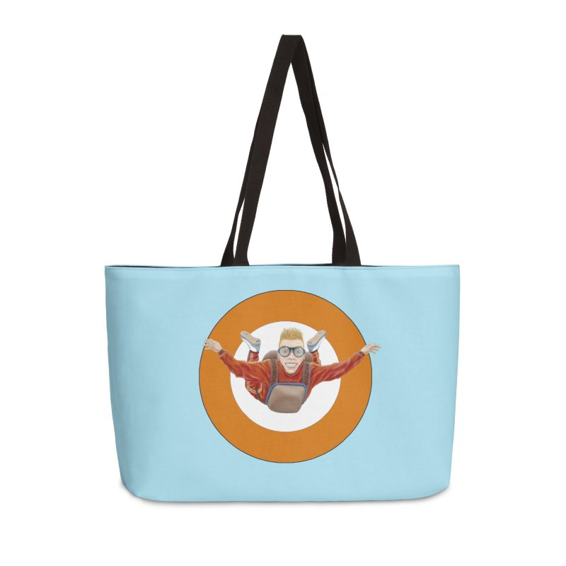 Skydiver (Orange) Accessories Weekender Bag Bag by RealZeal's Artist Shop