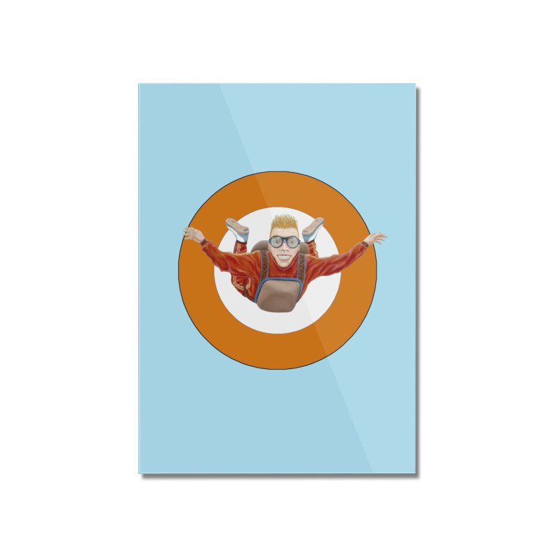 Skydiver (Orange) Home Mounted Acrylic Print by RealZeal's Artist Shop