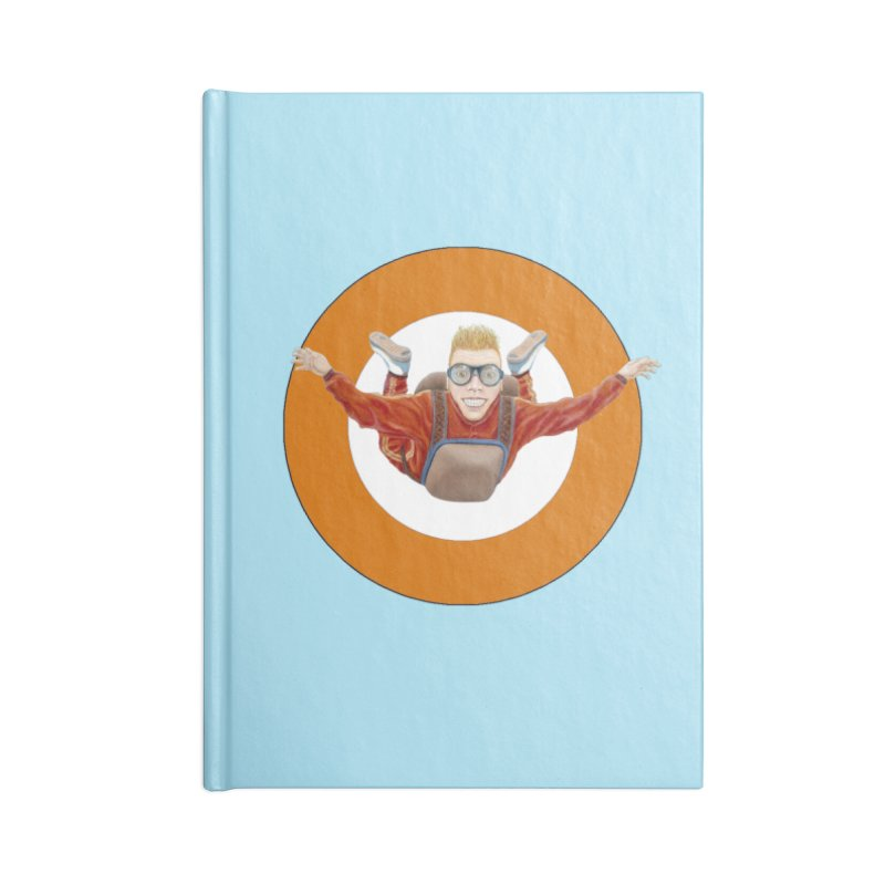 Skydiver (Orange) Accessories Lined Journal Notebook by RealZeal's Artist Shop