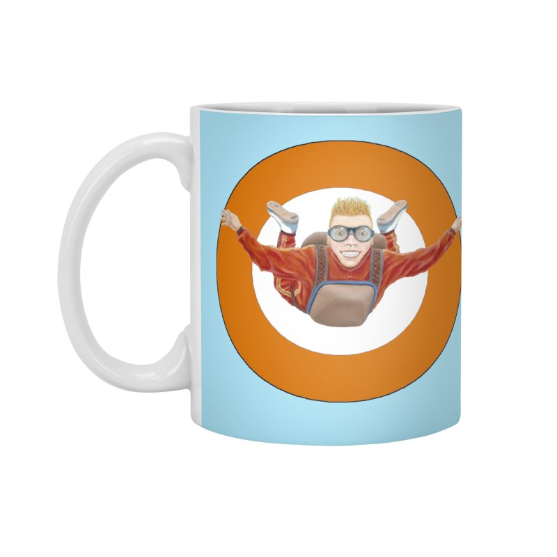 Skydiver (Orange) Accessories Mug by RealZeal's Artist Shop
