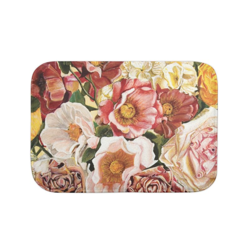 Lily Vase Home Bath Mat by RealZeal's Artist Shop