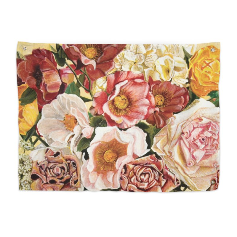 Lily Vase Home Tapestry by RealZeal's Artist Shop
