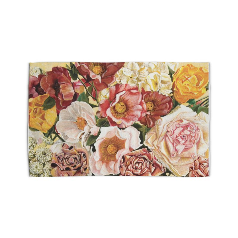 Lily Vase Home Rug by RealZeal's Artist Shop