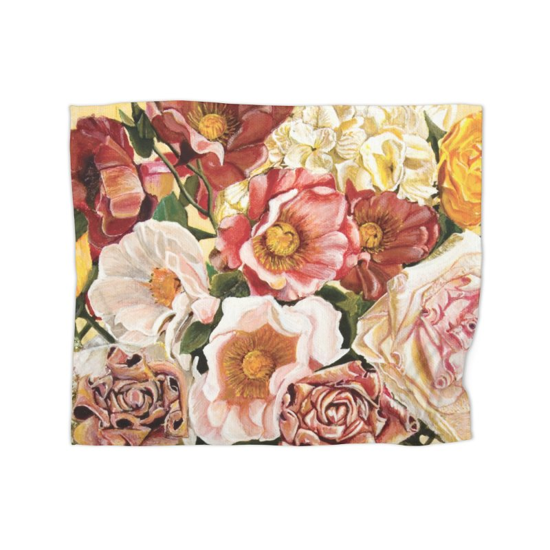 Lily Vase Home Fleece Blanket Blanket by RealZeal's Artist Shop