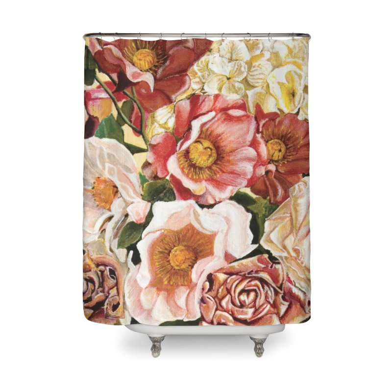 Lily Vase Home Shower Curtain by RealZeal's Artist Shop