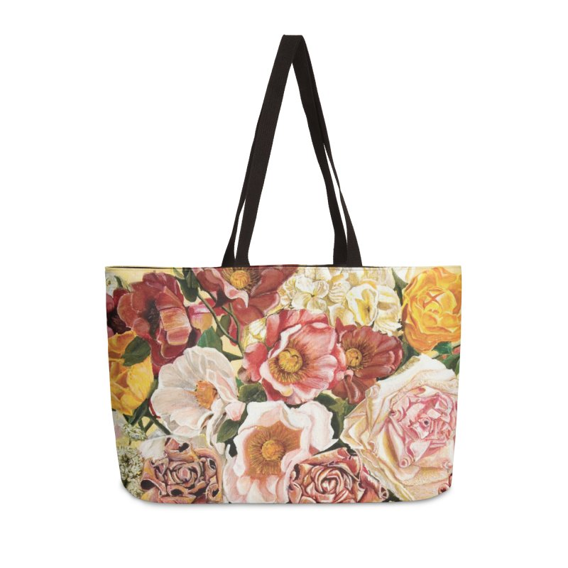 Lily Vase Accessories Weekender Bag Bag by RealZeal's Artist Shop