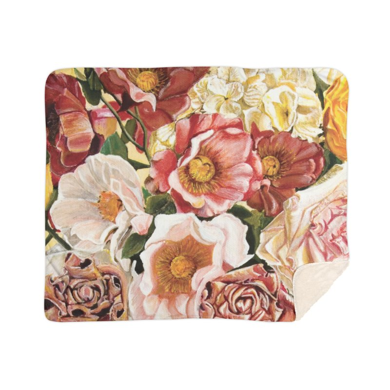 Lily Vase Home Sherpa Blanket Blanket by RealZeal's Artist Shop