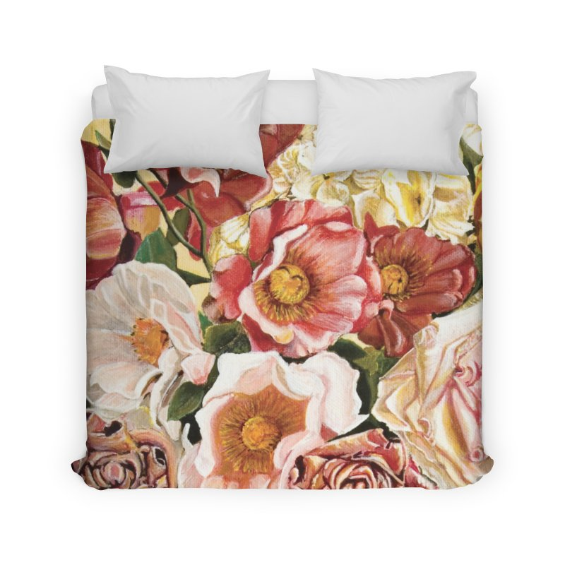 Lily Vase Home Duvet by RealZeal's Artist Shop