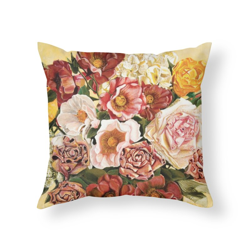 Lily Vase Home Throw Pillow by realzeal's Artist Shop