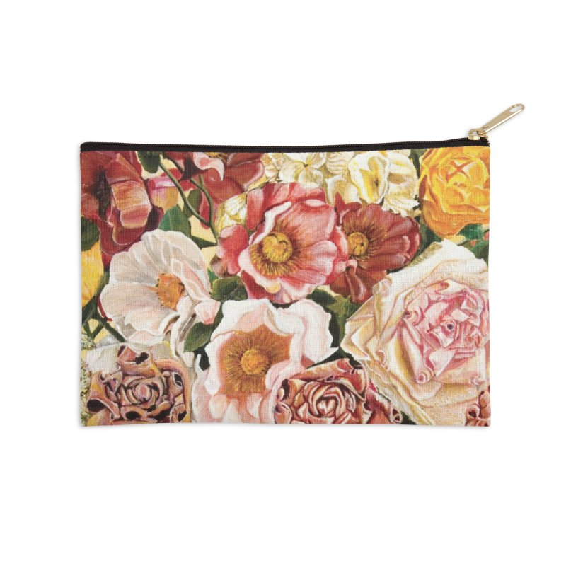Lily Vase Accessories Zip Pouch by RealZeal's Artist Shop