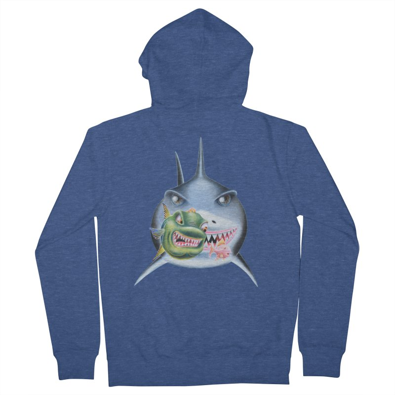 The Big & The Biggest Men's French Terry Zip-Up Hoody by RealZeal's Artist Shop