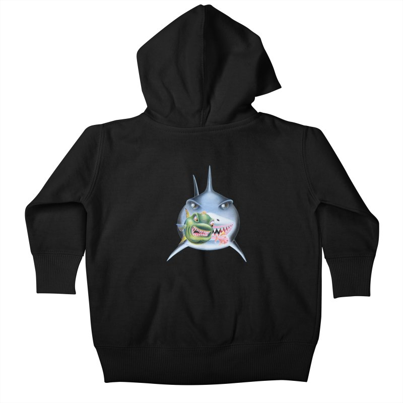 The Big & The Biggest Kids Baby Zip-Up Hoody by RealZeal's Artist Shop