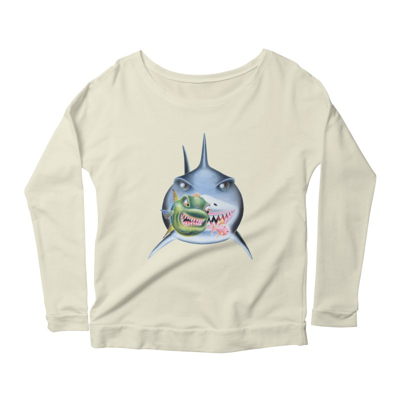 The Big & The Biggest Women's Longsleeve Scoopneck  by RealZeal's Artist Shop