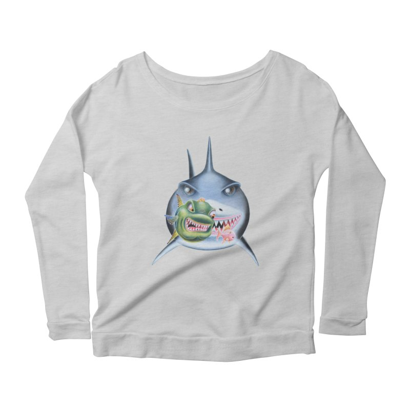 The Big & The Biggest Women's Scoop Neck Longsleeve T-Shirt by RealZeal's Artist Shop