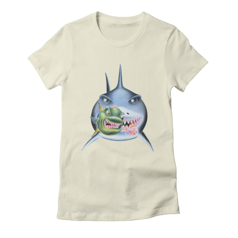 The Big & The Biggest Women's Fitted T-Shirt by RealZeal's Artist Shop