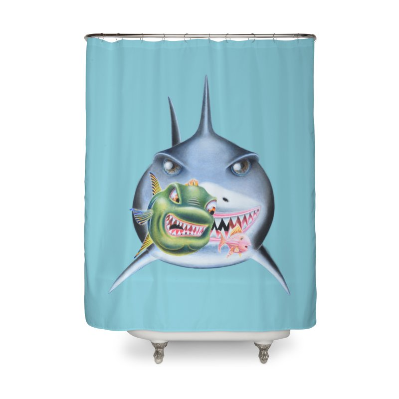 The Big & The Biggest Home Shower Curtain by RealZeal's Artist Shop