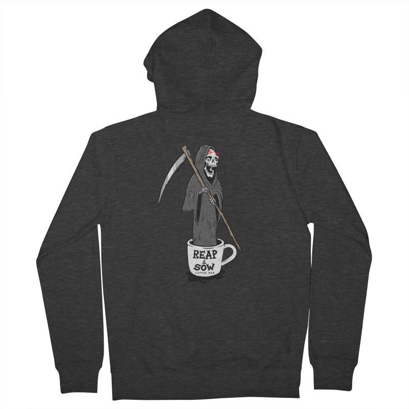 Death Before Decaf Men's Zip-Up Hoody by reapsow's Artist Shop