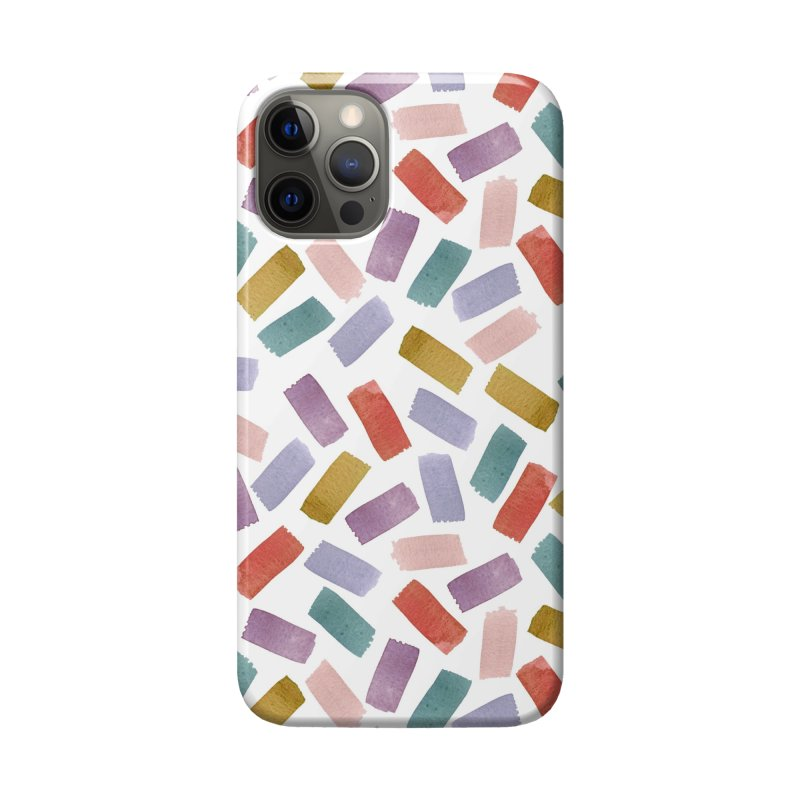 Watercolour Confetti | Purple, Pink and Rust Accessories Phone Case by Rebecca Flaherty's Artist Shop