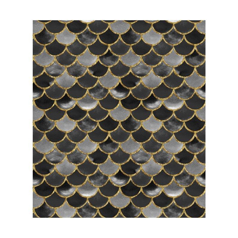 Mermaid Scales | Black and Gold Men's Socks by Rebecca Flaherty's Artist Shop