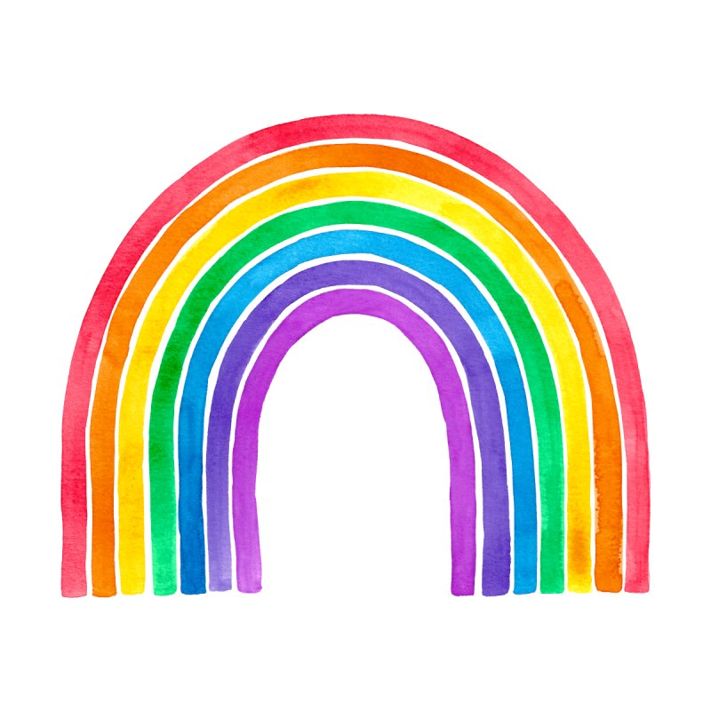 Watercolour Rainbow Men's Socks by Rebecca Flaherty's Artist Shop