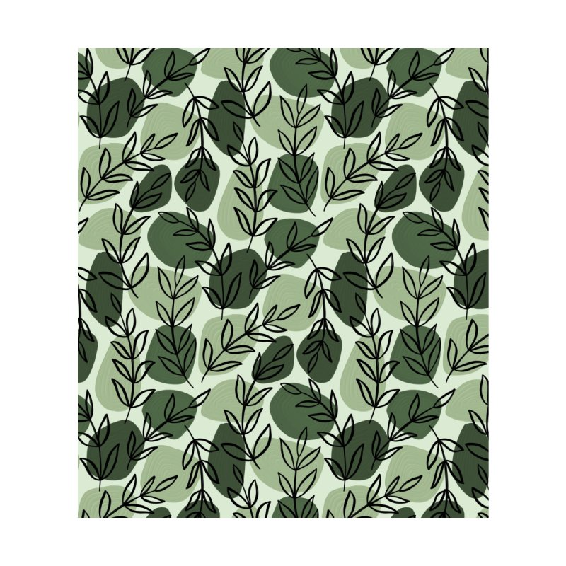 Leaves and Pebbles   Green Men's Cut & Sew by Rebecca Flaherty's Artist Shop