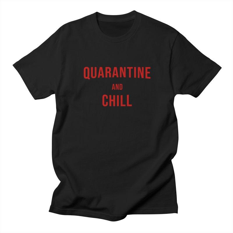 Quarantine and Chill v2 Men's T-Shirt by R E B E C C A  G O L D B E R G