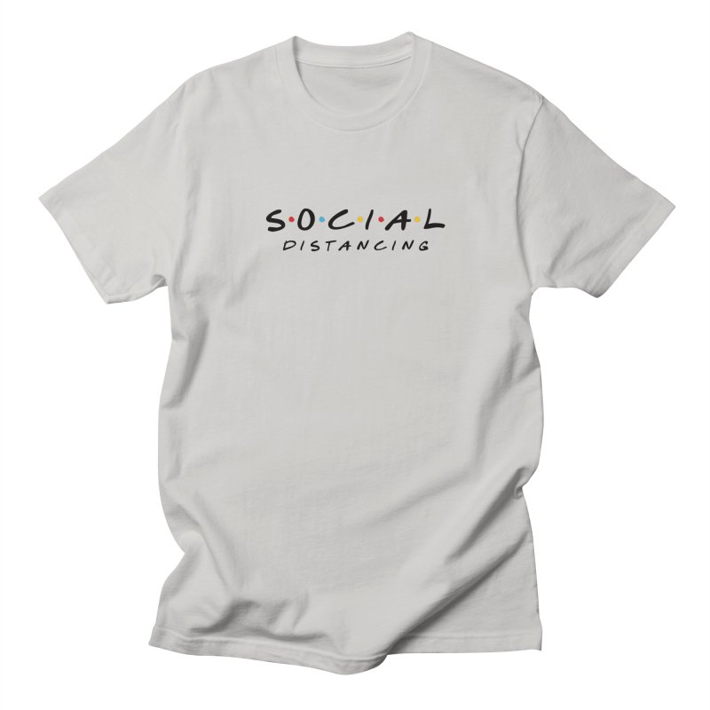 S-O-C-I-A-L Distancing (light) Men's T-Shirt by R E B E C C A  G O L D B E R G