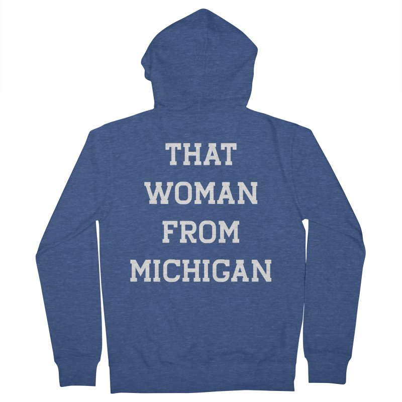 THAT WOMAN FROM MICHIGAN Men's Zip-Up Hoody by R E B E C C A  G O L D B E R G