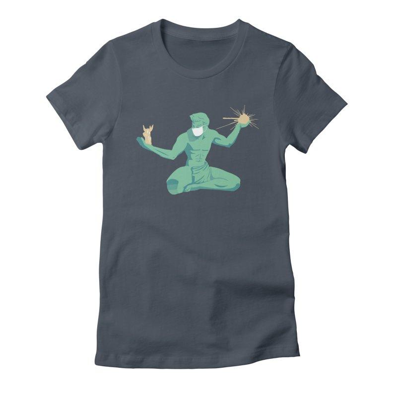 Spirit of Detroit at a Distance Women's T-Shirt by R E B E C C A  G O L D B E R G