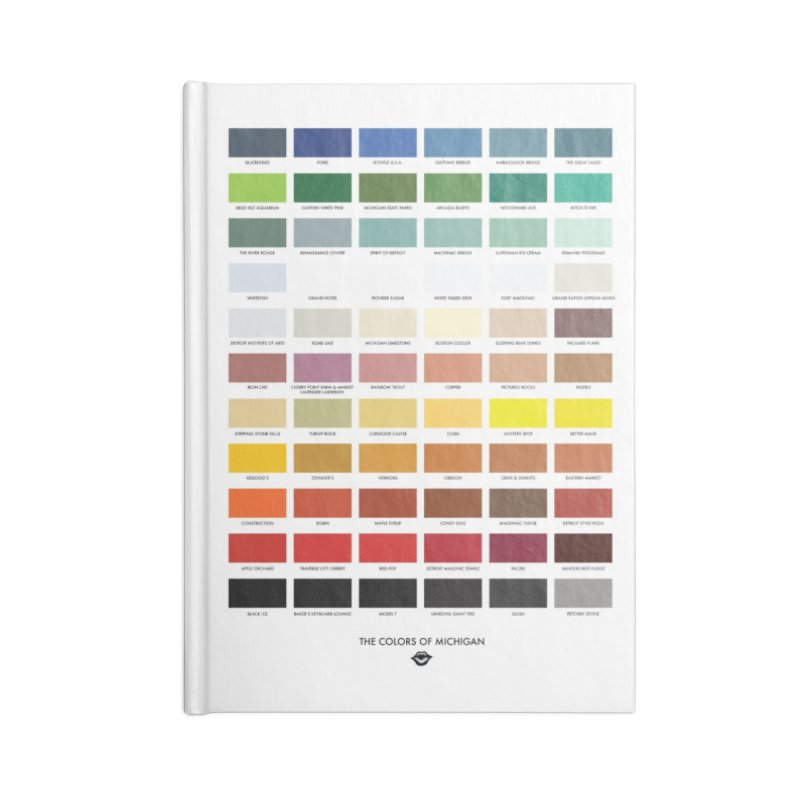 The Colors of Michigan Accessories Notebook by R E B E C C A  G O L D B E R G