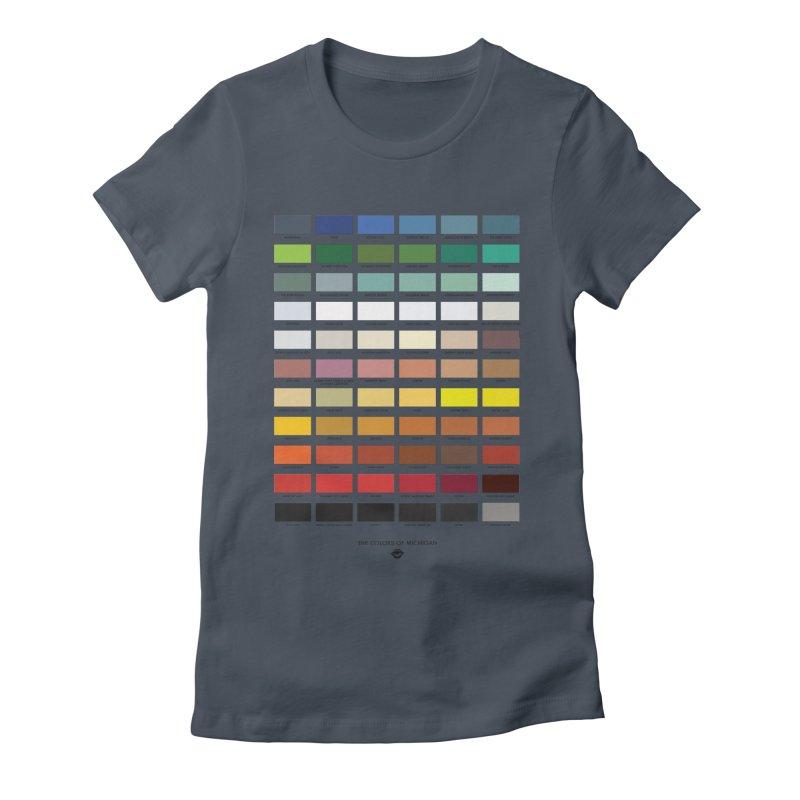 The Colors of Michigan Women's T-Shirt by R E B E C C A  G O L D B E R G