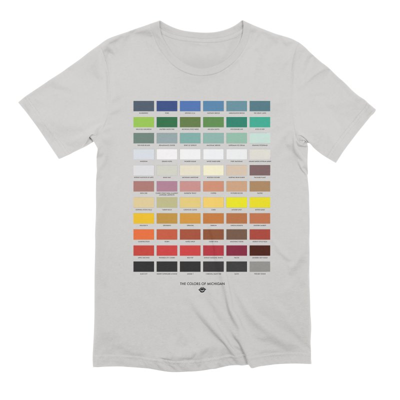 The Colors of Michigan Men's T-Shirt by R E B E C C A  G O L D B E R G
