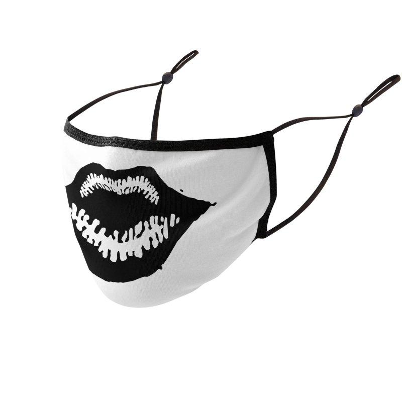 Lips Logo (dark) Accessories Face Mask by R E B E C C A  G O L D B E R G