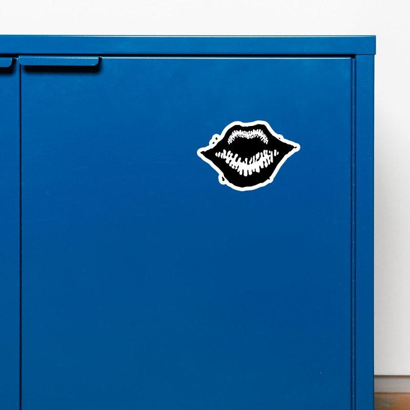 Lips Logo (dark) Accessories Magnet by R E B E C C A  G O L D B E R G