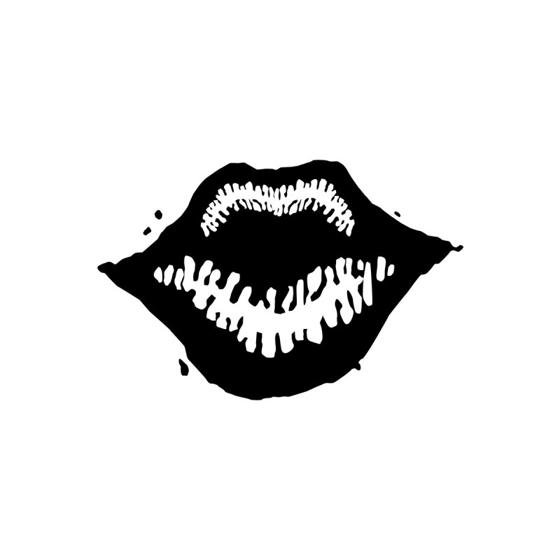 Lips Logo (dark) Women's T-Shirt by R E B E C C A  G O L D B E R G