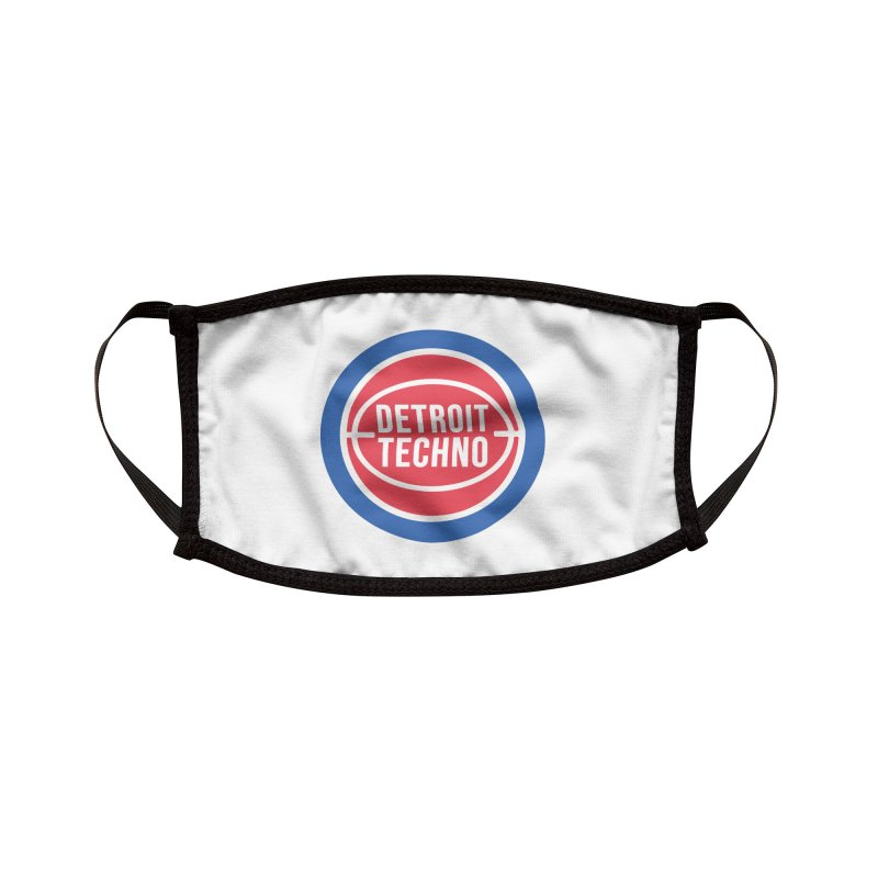 Detroit Techno Pistons Throwback Accessories Face Mask by R E B E C C A  G O L D B E R G