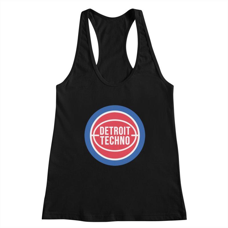 Detroit Techno Pistons Throwback Women's Tank by R E B E C C A  G O L D B E R G