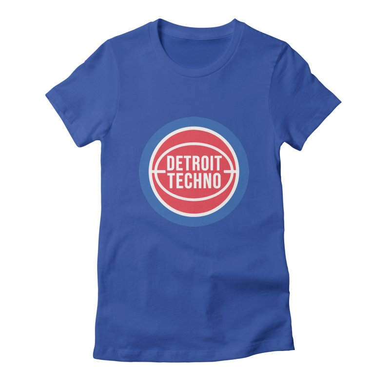 Detroit Techno Pistons Throwback Women's T-Shirt by R E B E C C A  G O L D B E R G