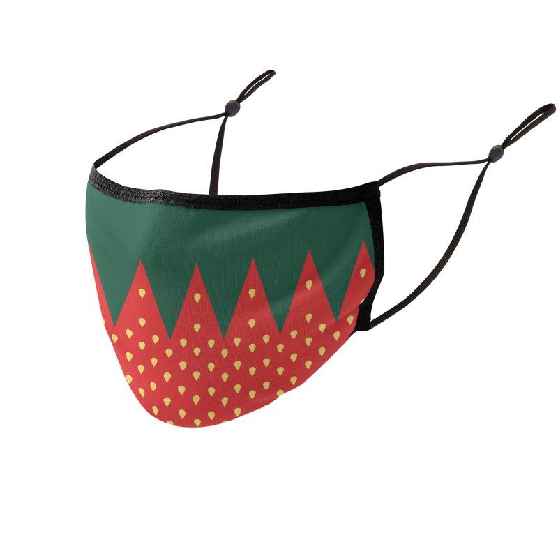 Strawberry Candy Accessories Face Mask by R E B E C C A  G O L D B E R G