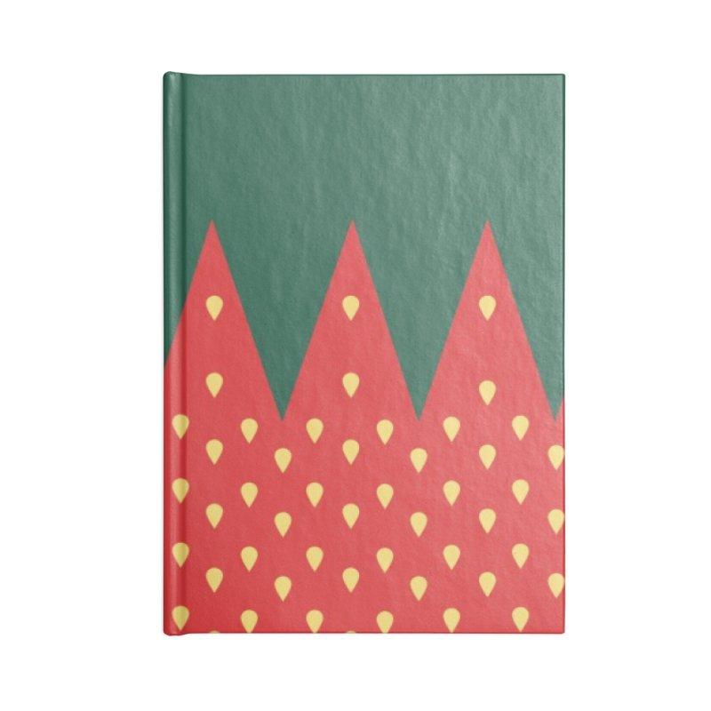 Strawberry Candy Accessories Notebook by R E B E C C A  G O L D B E R G