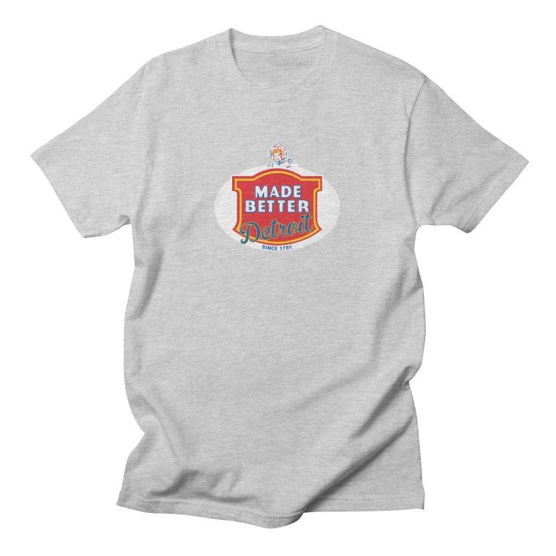 MADE BETTER Detroit Men's T-Shirt by R E B E C C A  G O L D B E R G