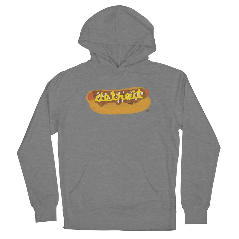 Detroit Coney Dog Men's French Terry Pullover Hoody by R E B E C C A  G O L D B E R G