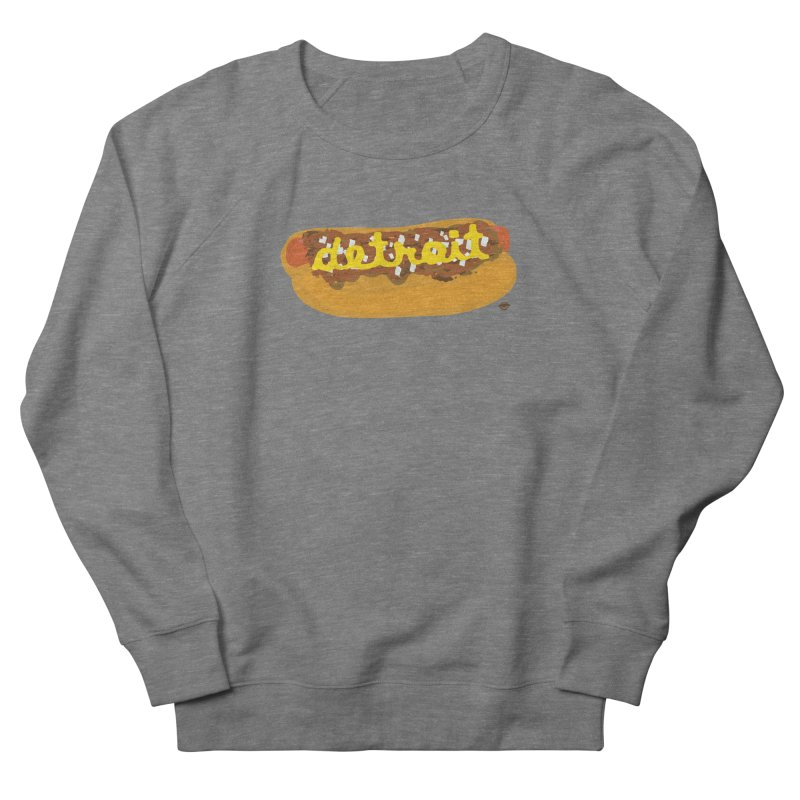 Detroit Coney Dog Men's French Terry Sweatshirt by R E B E C C A  G O L D B E R G