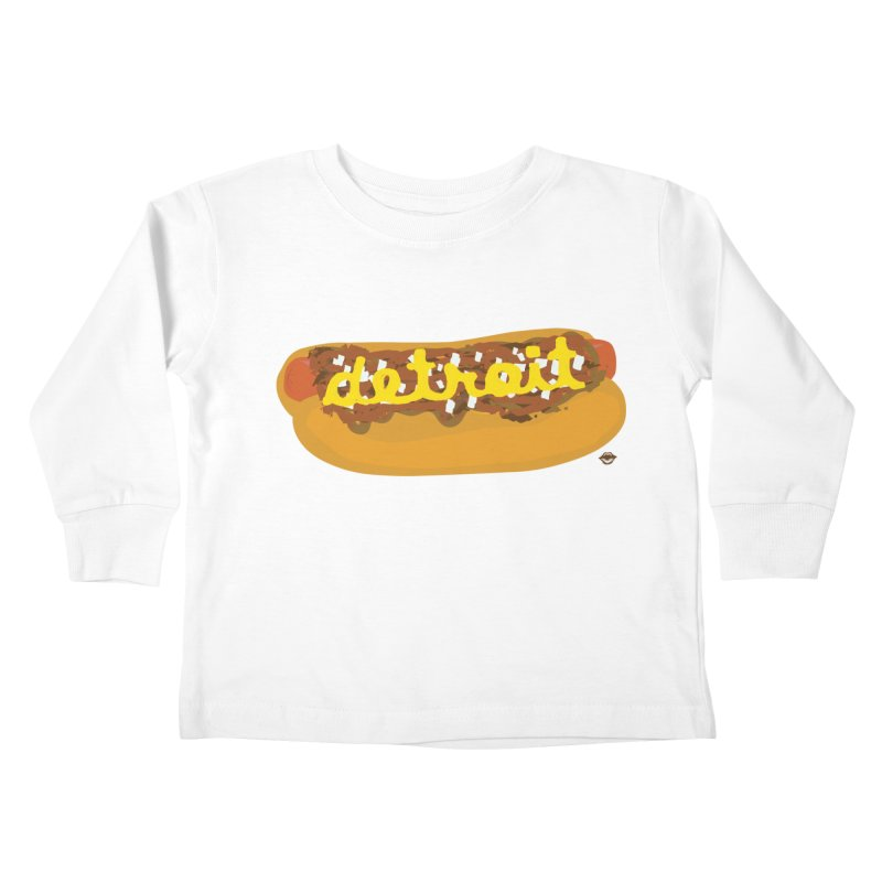 Detroit Coney Dog Kids Toddler Longsleeve T-Shirt by R E B E C C A  G O L D B E R G